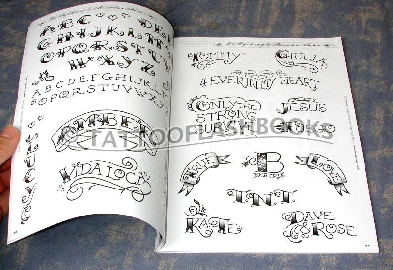 This very useful Italian-made tattoo script and lettering