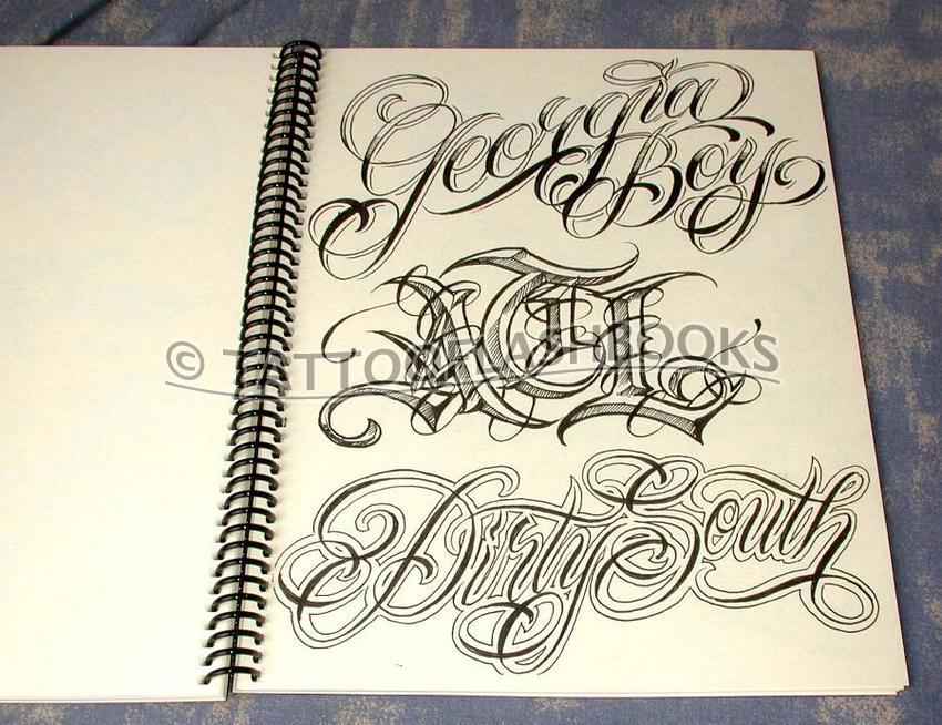 Chicano Gangster Script Font Inner Calf Tattoo Design Tattoo Galle ...