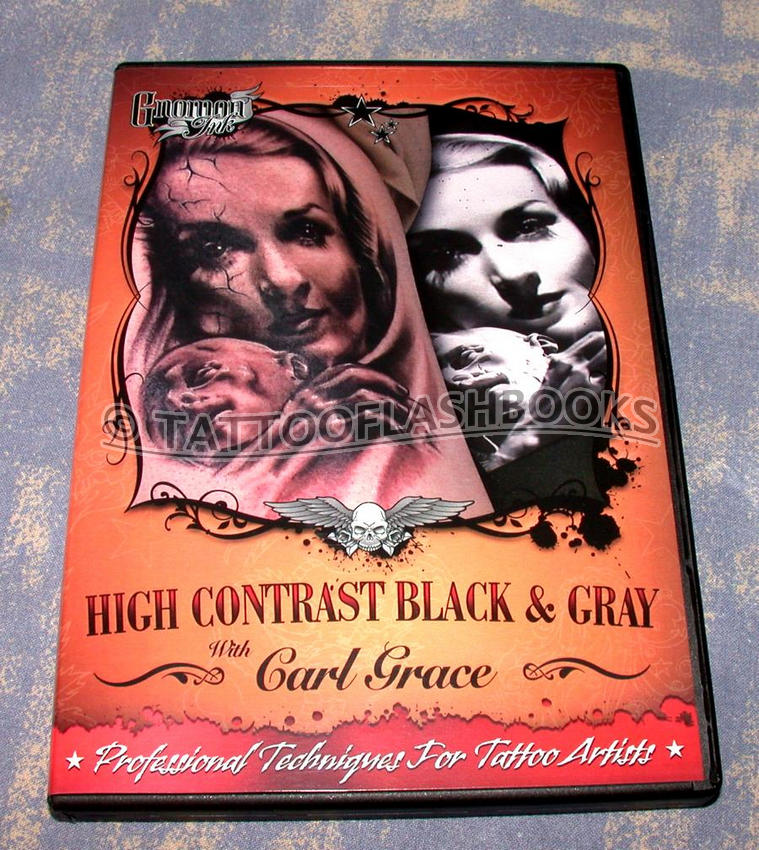 Carl grace high contrast black for How to tattoo dvd