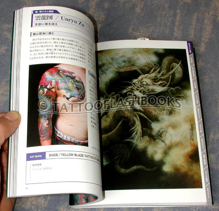 Fujimi mook tattoo design book for Dragon tattoo book