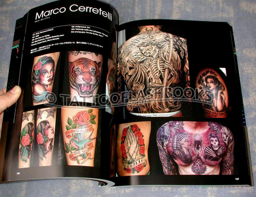 by Tattoo Burst. Thick, deluxe, glossy book compiled by respected names