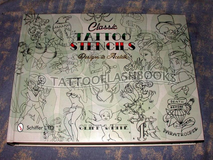 cliff white classic tattoo stencils designs in acetate. Black Bedroom Furniture Sets. Home Design Ideas